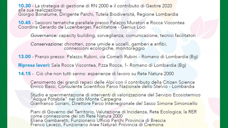 Stati generali Rete Natura 2000 – programma della giornata