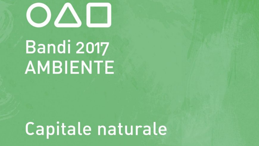 "Fondazione Cariplo, environment call for proposals 2017 ""natural capital"" for biodiversity"