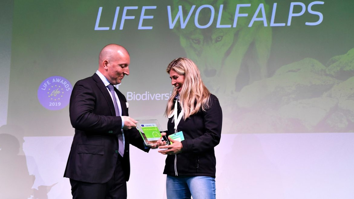 Il progetto Life WolfAlps vince il Life Awards 2019