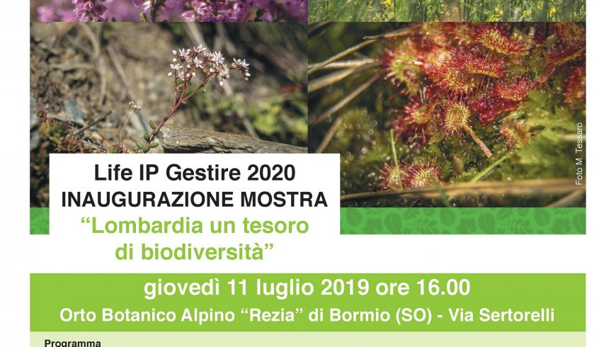 """Inaugurazione mostra """"Lombardia un tesoro di biodiversità"""" – Bormio (SO)"""
