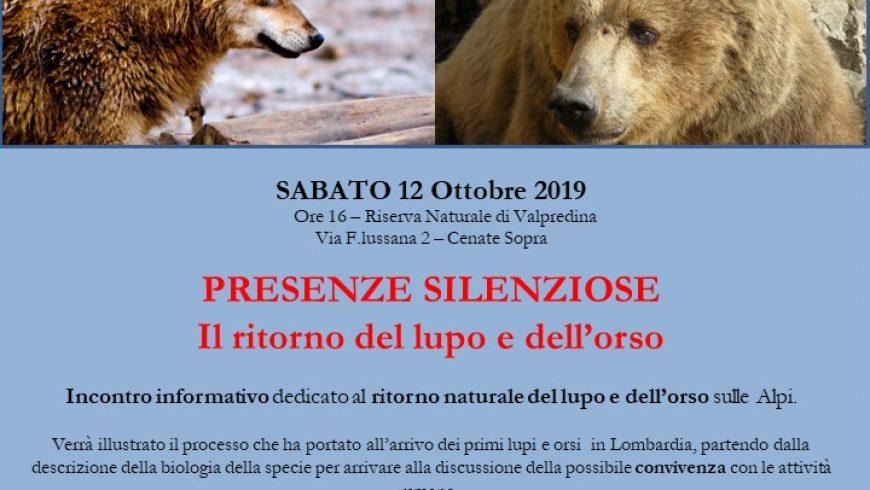 Presenze silenziose: il ritorno del lupo e dell'orso – Valpredina (BG)