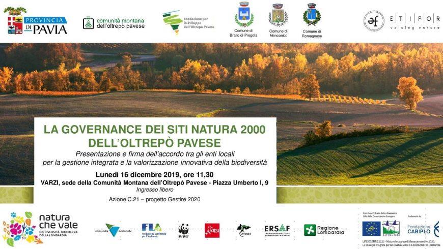 La governance dei siti Natura 2000 dell'Oltrepò Pavese – Varzi (PV)